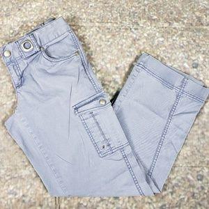 Purple Cargo Pants Athleta Grommets 2P